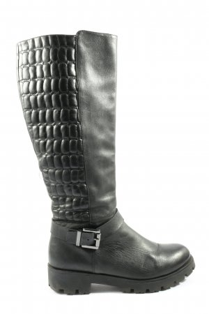 Tosca blu Wide Calf Boots black quilting pattern casual look