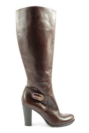 TOSI VANNINO Wide Calf Boots brown casual look