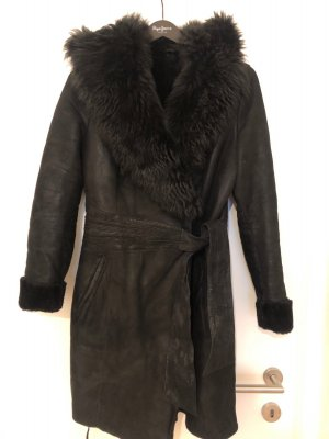 Handmade Manteau de fourrure noir