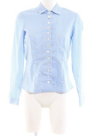 Tostmann Chemise bavaroise bleu-blanc motif à carreaux style d'affaires