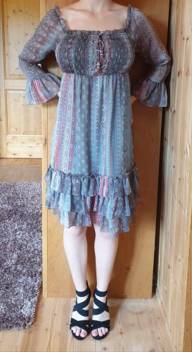 Clockhouse Vestido de manga larga multicolor