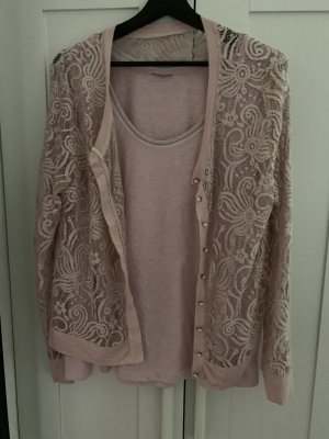 Woven Twin Set dusky pink-pink