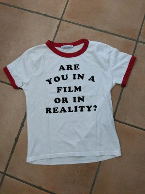 Totalausverkauf! Girlie Shirt von ZARA mit frechem Druck Gr. S 34/36