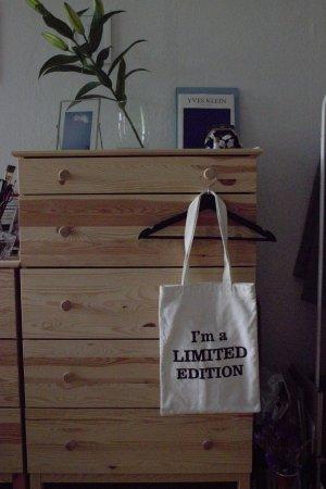 Tote Bag - Stofftasche - weiß - statement schrift