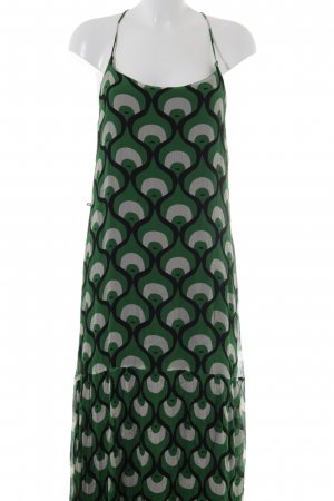 Totem Maxikleid abstraktes Muster extravaganter Stil