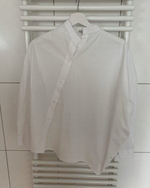 toteme Stand-Up Collar Blouse white cotton