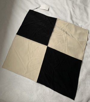 toteme Foulard en soie noir-crème soie