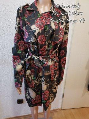 Made in Italy Sukienka płaszczowa czarny-czerwony