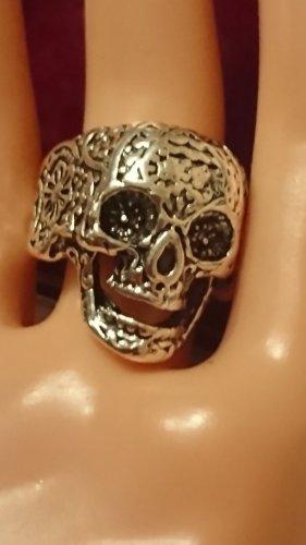 Totenkopf  Silber Ring  Gr.17,5
