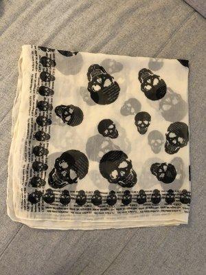 Totenkopf Tuch weiß