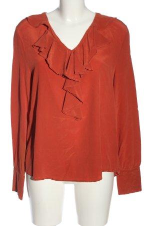 Toupy Long Sleeve Blouse light orange casual look