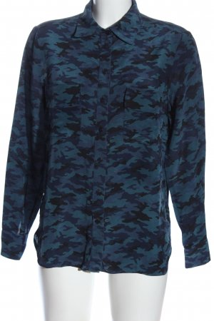 Toupy Long Sleeve Shirt blue allover print casual look