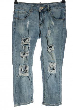 Toxik3 3/4 Length Jeans blue casual look