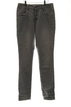 Toxik3 Biker jeans lichtgrijs casual uitstraling
