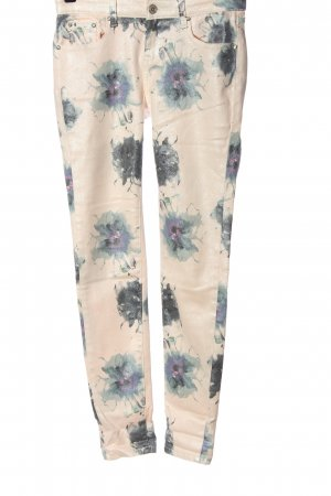 Toxik3 High Waist Jeans cream abstract pattern casual look