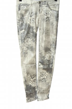 Toxik3 High Waist Jeans light grey-natural white abstract pattern casual look