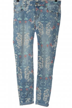 Toxik3 High Waist Jeans blue-white allover print casual look