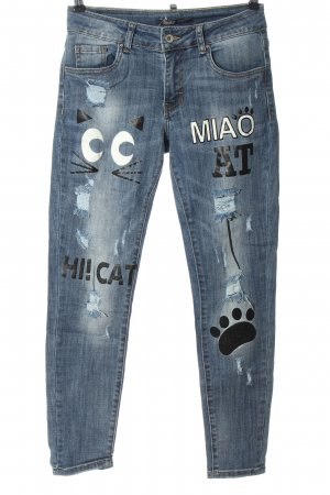 Toxik3 Low Rise Jeans themed print casual look