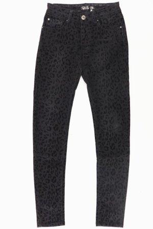 Toxik3 Jeans mit Animalprint schwarz Größe 36