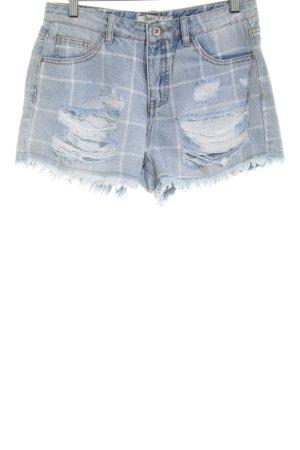 Toxik3 Shorts blau Karomuster Casual-Look
