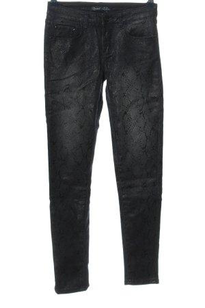 Toxik3 Skinny Jeans schwarz Animalmuster Casual-Look