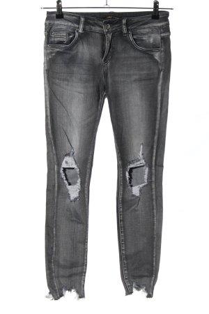 Toxik3 Slim Jeans light grey casual look