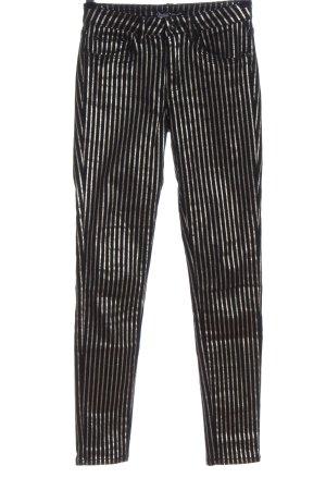 Toxik3 Stretch Jeans black-silver-colored striped pattern elegant