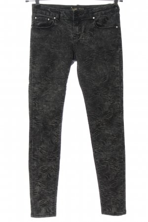 Toxik3 Stretch Trousers black-light grey abstract pattern street-fashion look
