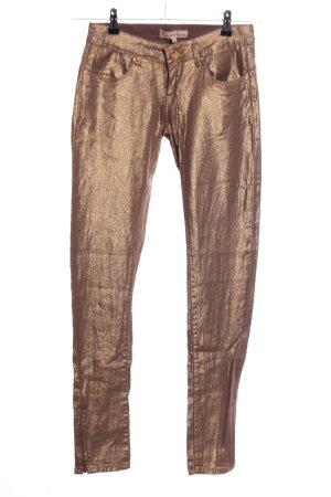 Toxik3 Treggings bronzefarben extravaganter Stil