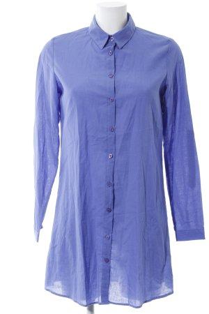 Long-Bluse blau Business-Look