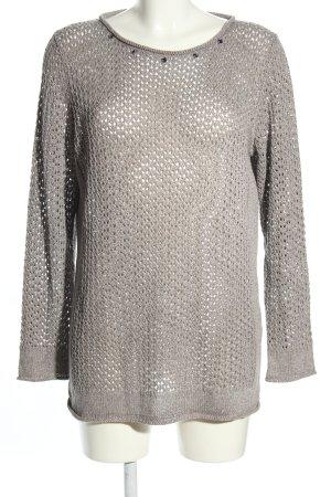 TR Pull en crochet gris clair style décontracté
