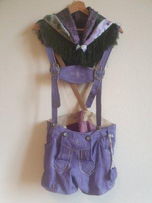 Pantalon traditionnel en cuir violet