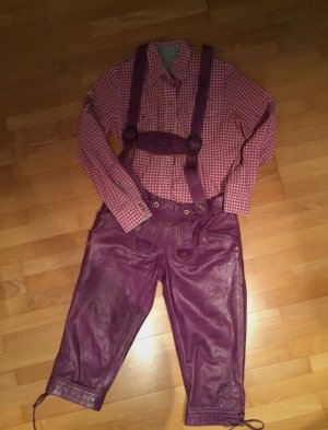 Country Maddox Traditional Leather Trousers purple-lilac