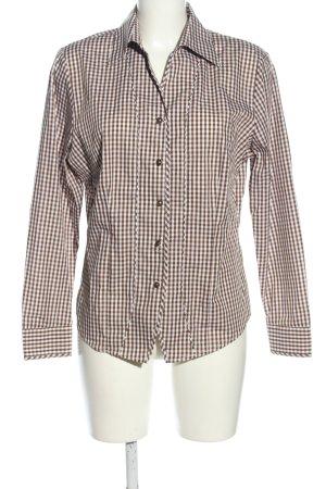 trachten-alm Trachtenhemd bronzefarben-weiß Karomuster Casual-Look