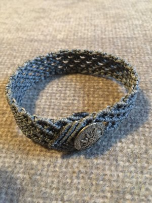 Trachten - Armband grau Knopf Enzian
