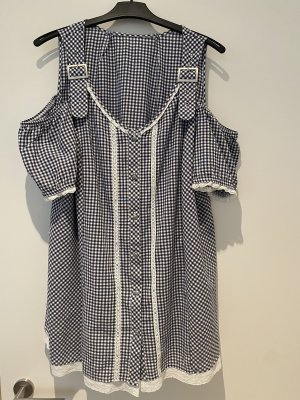Trachten Bluse mit Spitze und Strasssteine