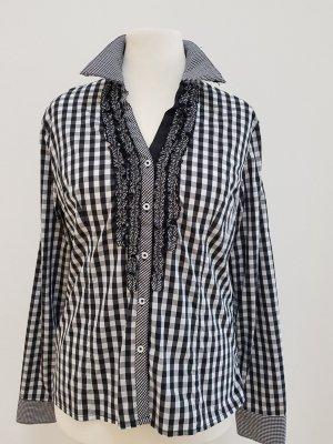 Krüger MADL Blusa tradizionale nero-bianco