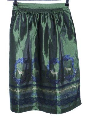 Trachten Deiser Traditional Apron blue-green themed print wet-look