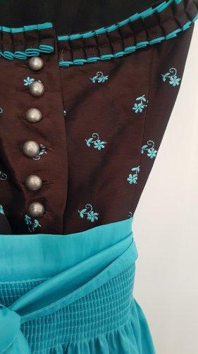 Gamsbock Dirndl brown-light blue