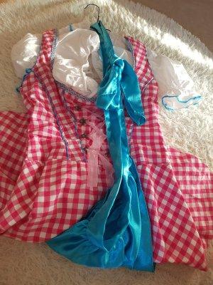 Keine Marke Delantal folclórico rosa-azul