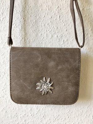 Tradycyjna torebka jasnobrązowy-szaro-brązowy