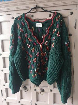 Maglione tradizionale rosso-verde bosco