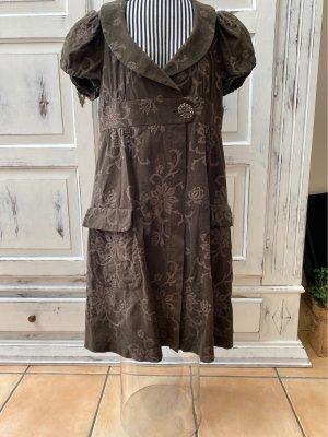 Avantgarde Summer Dress dark brown cotton