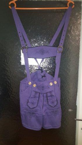 Alpin de luxe Pantalón folclórico violeta azulado