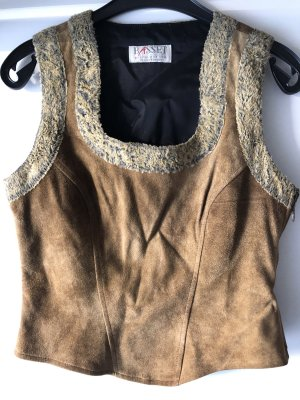 Basset Traditional Camisole camel leather