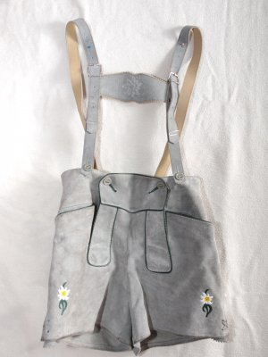 Pantalone in pelle tradizionale argento