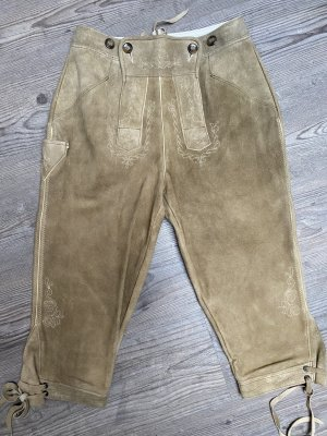 Pantalon traditionnel en cuir marron clair-beige