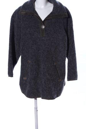 Trachten-Mad'l Maglione tradizionale nero puntinato stile casual
