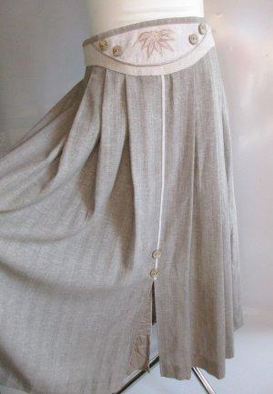 Vintage Spódnica midi Wielokolorowy Tkanina z mieszanych włókien