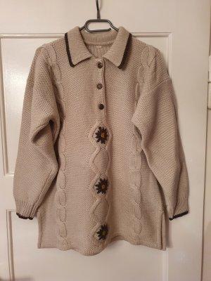Tradycyjny sweter brązowy-jasnobeżowy